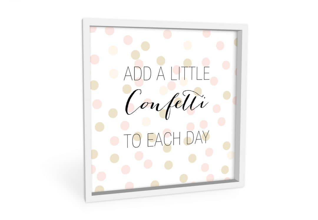 Wandbild Confetti & Cream - Add a little confetti