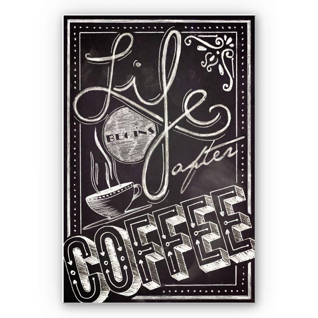 Forex print Life begins after Coffee | wall-art.com