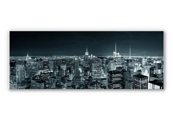 Hartschaum wandbild new york at night 02 wall - Wandbild new york ...