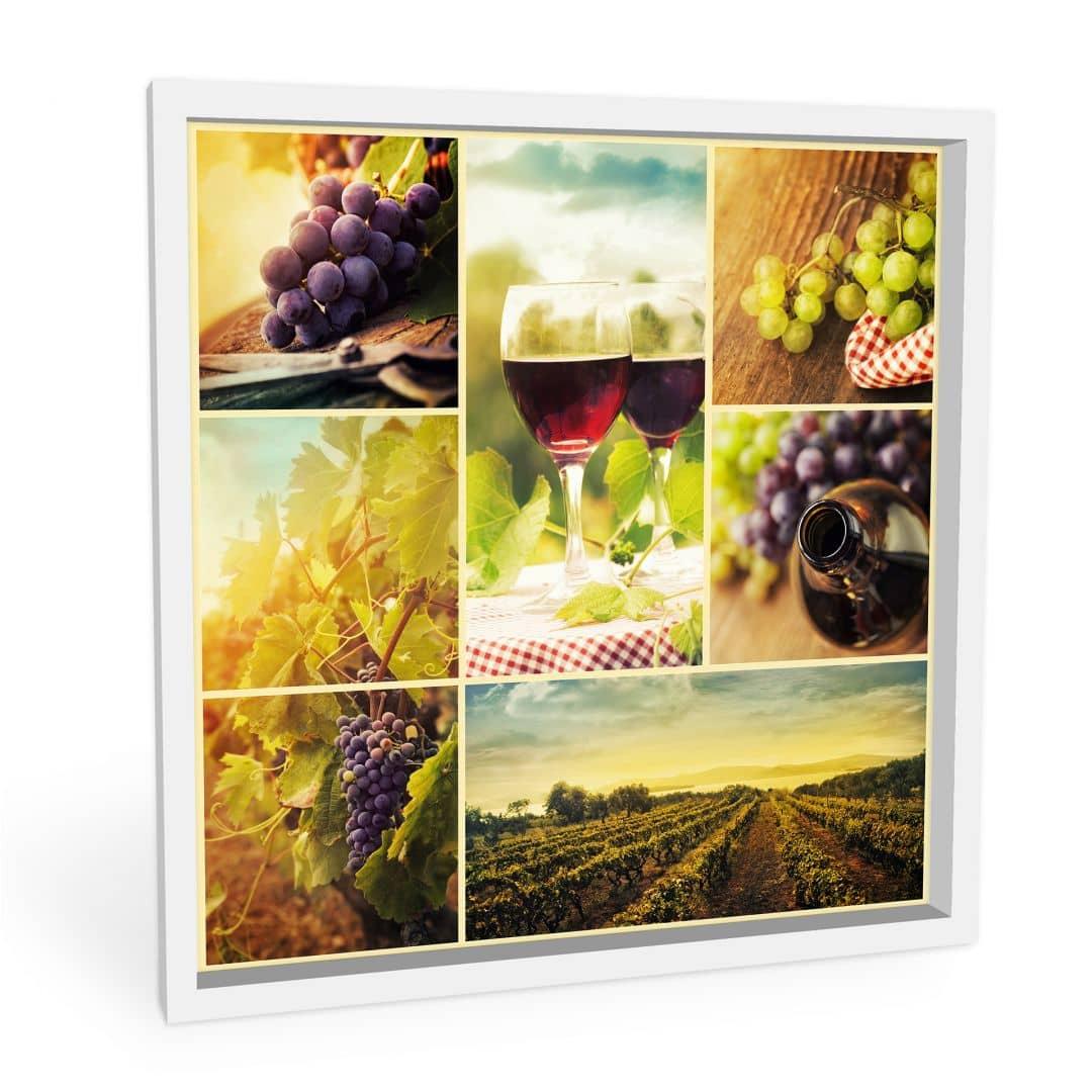 wanddecoratie wijn collage