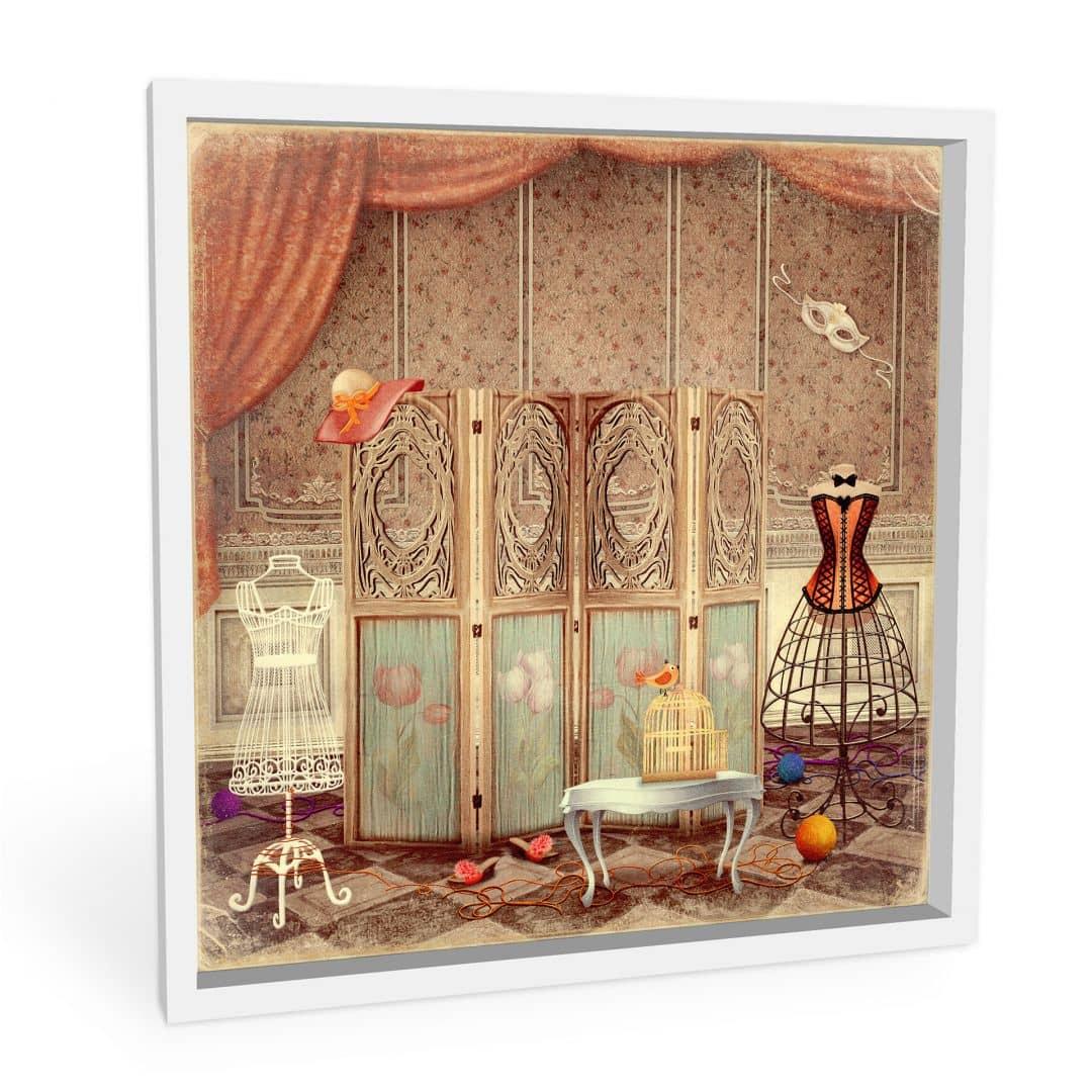 wanddecoratie kleedkamer van een prinses