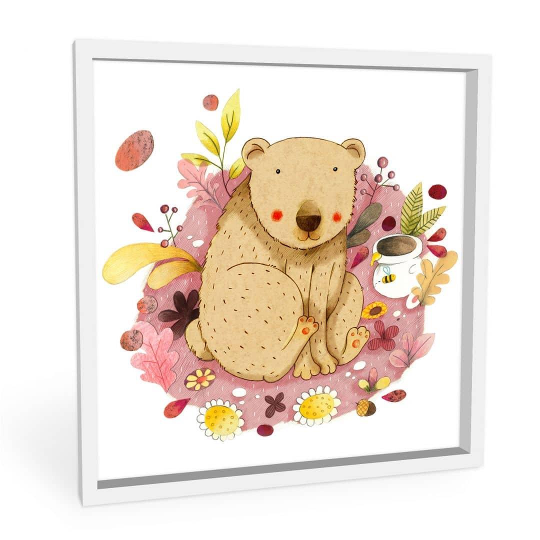 Wandbild Loske - Bär mit Honigtopf