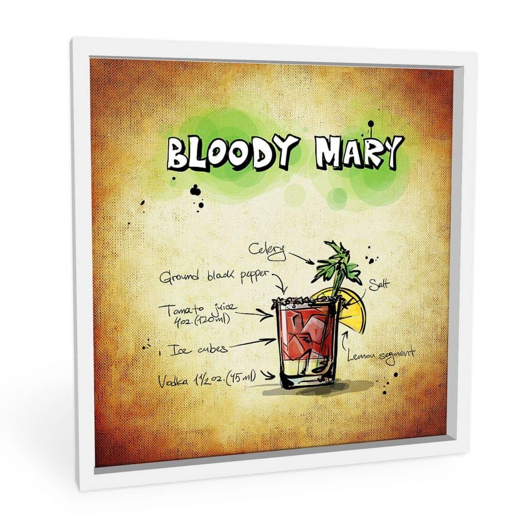 Wandbild Bloody Mary - Rezept