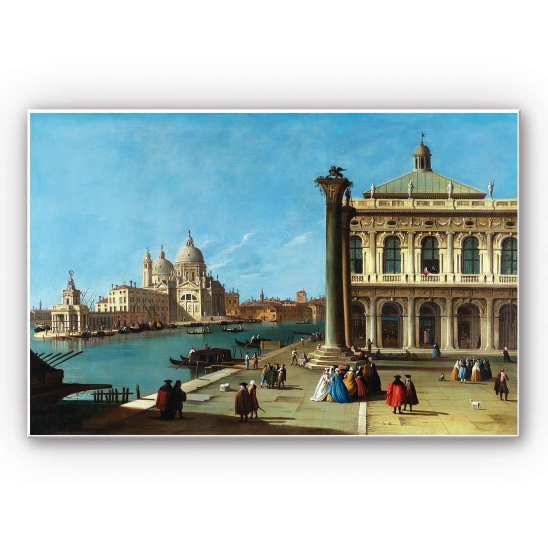 Hartschaum-Wandbild Canaletto Die Einfahrt zum Canal ...