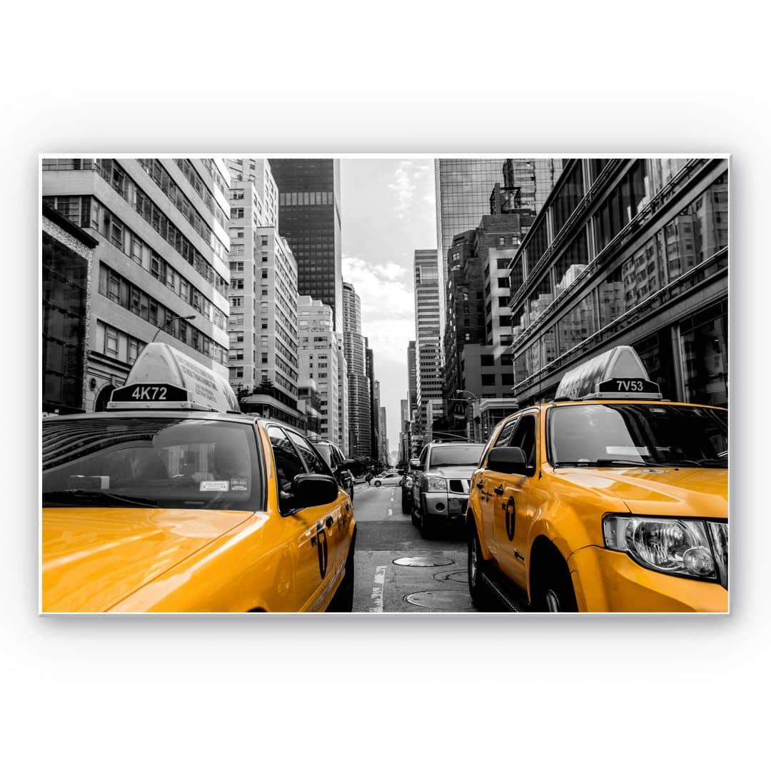 hartschaum wandbild streets in new york city wall. Black Bedroom Furniture Sets. Home Design Ideas