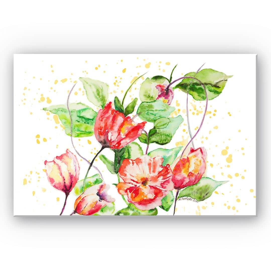 wanddecoratie toetzke bloemen uit de tuin