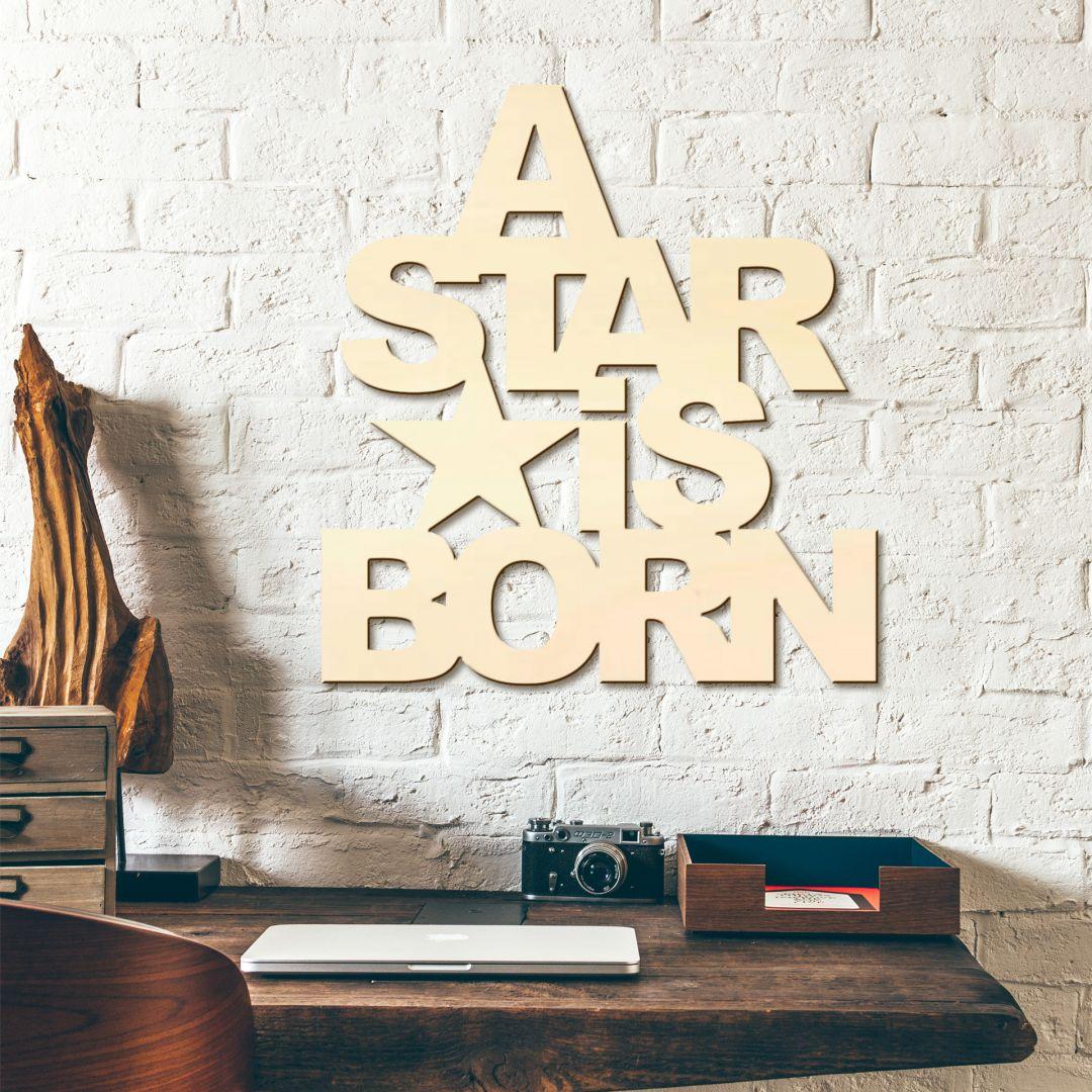 Houten Tekst A Star is born