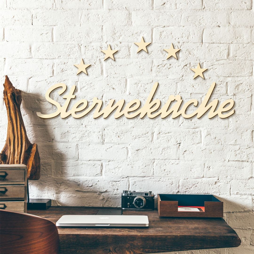 Holzbuchstaben Sterneküche