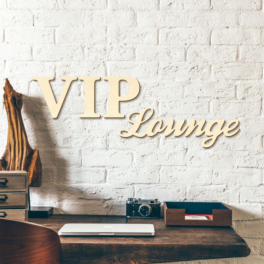 Houten Letters VIP-Lounge