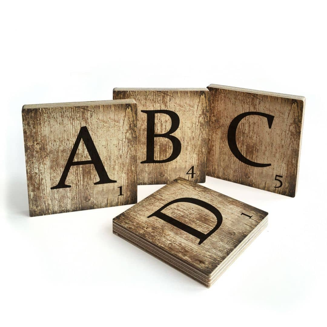 Decorative Letters Scrabble – vintage