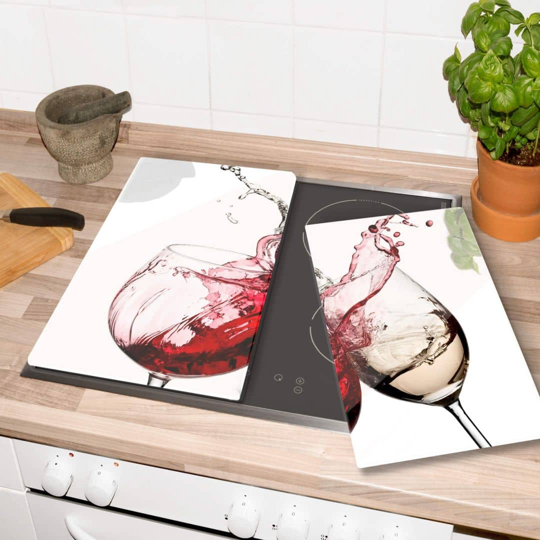 Plaque de protection cuisine verres vin wall - Plaque de protection murale pour cuisine ...