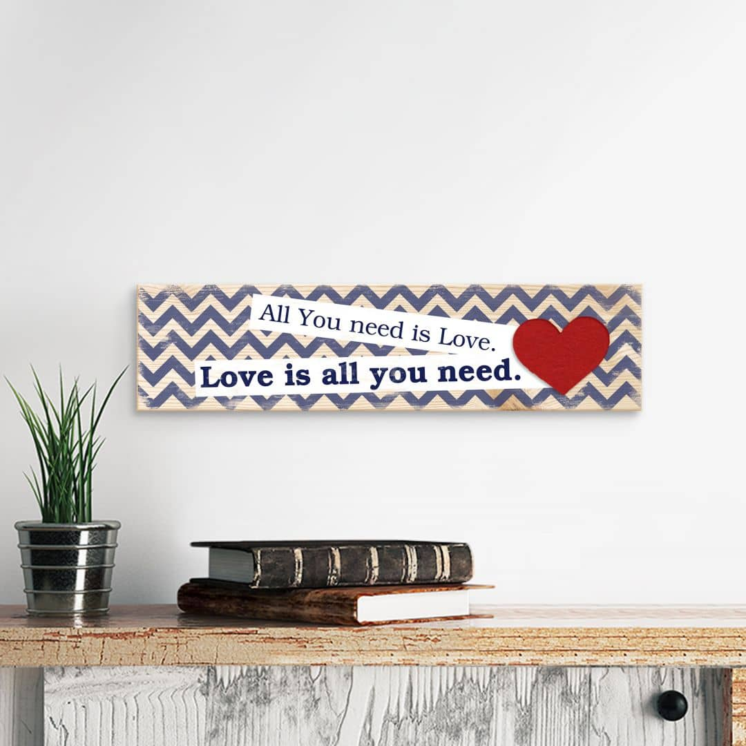 Houten Wanddecoratie All you need is love