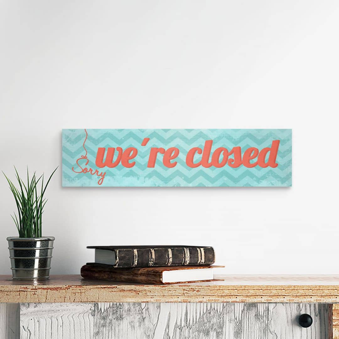Houten Wanddecoratie Sorry we're closed!