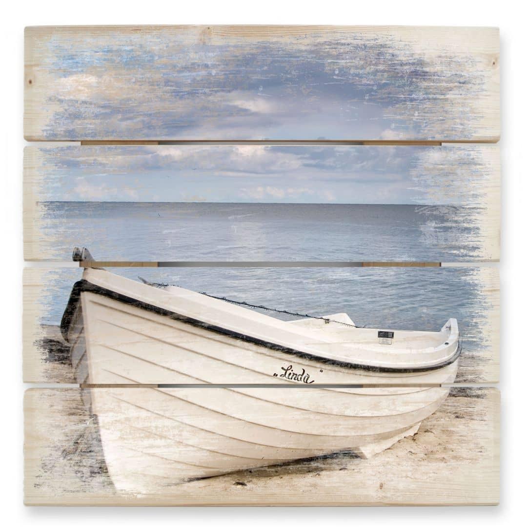 Beach Idyll - Wood Print