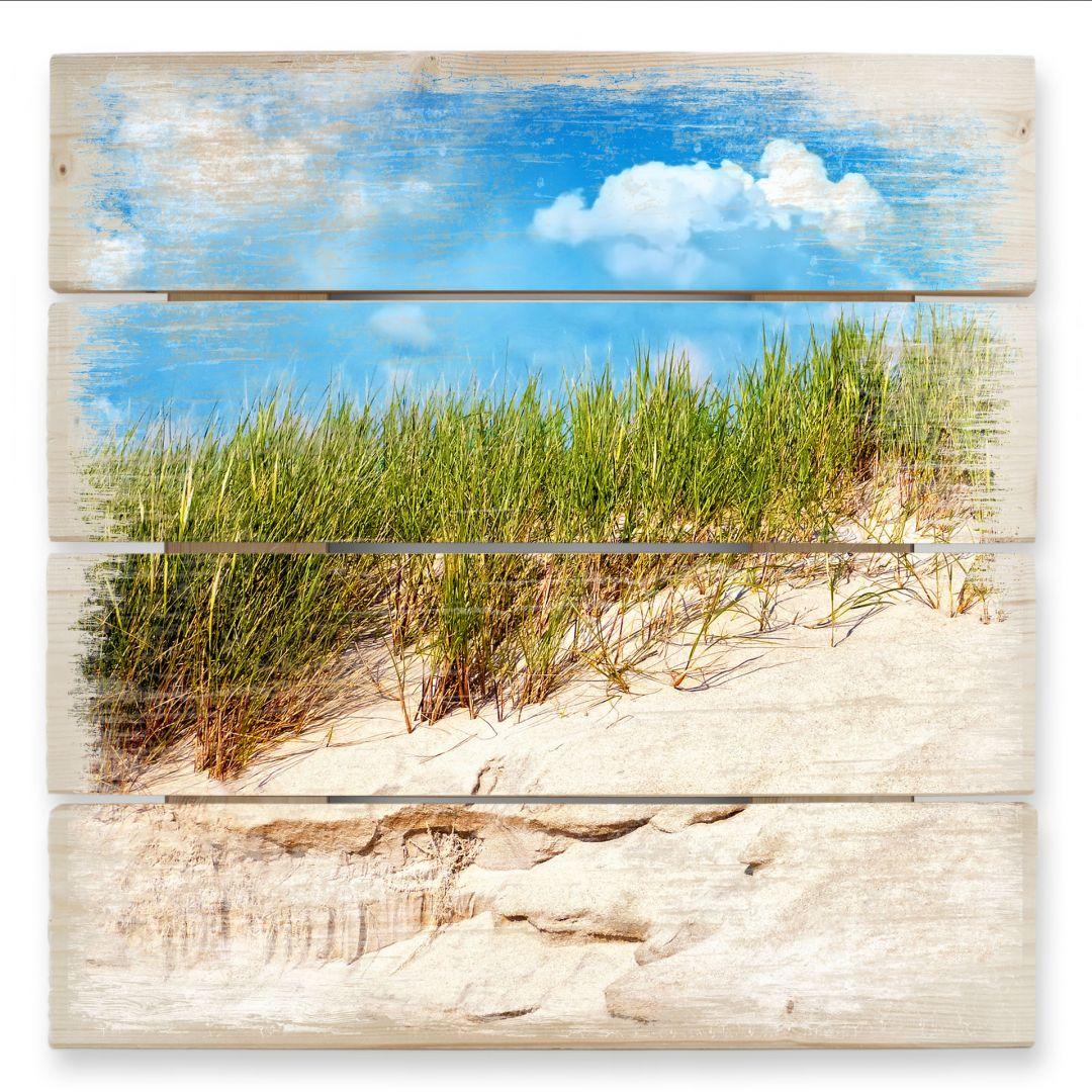 Holzbild Ostsee Dünenlandschaft