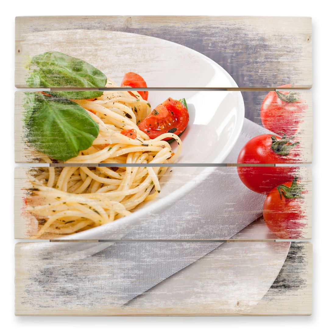 Holzbild Pasta Italiana