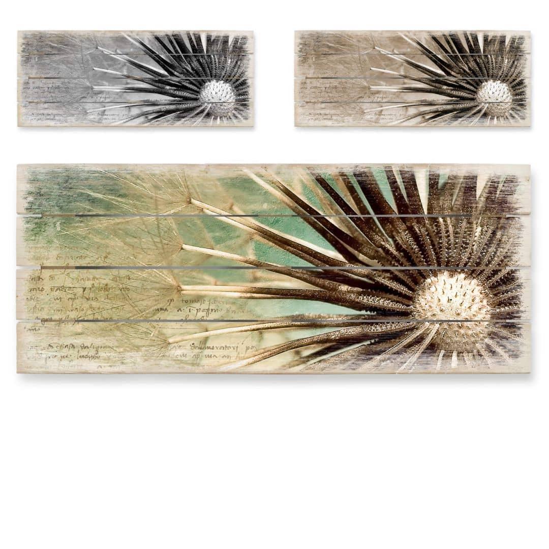 Dandelions-Poetry - Panorama Wood Print