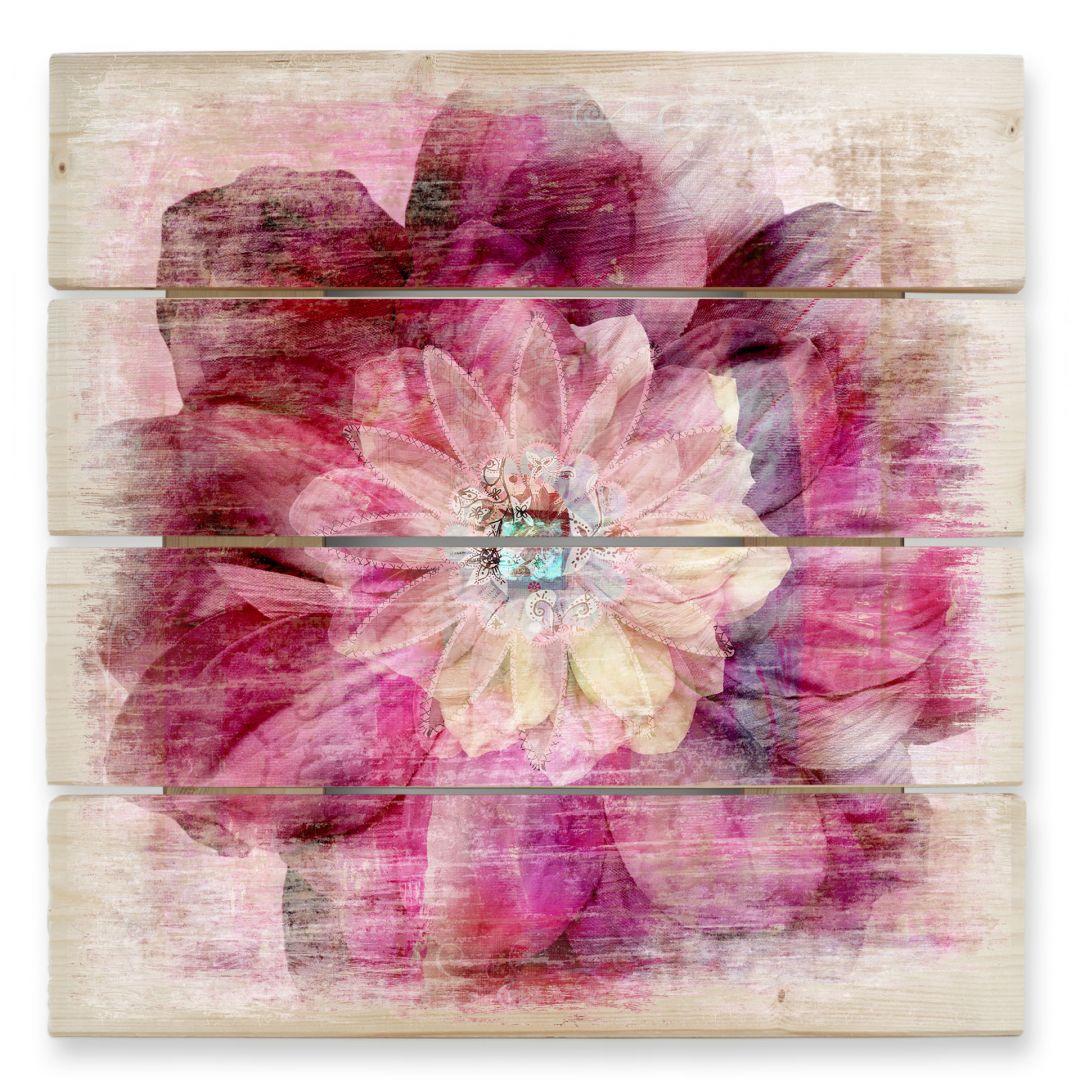 Pink Peony - Wood Print