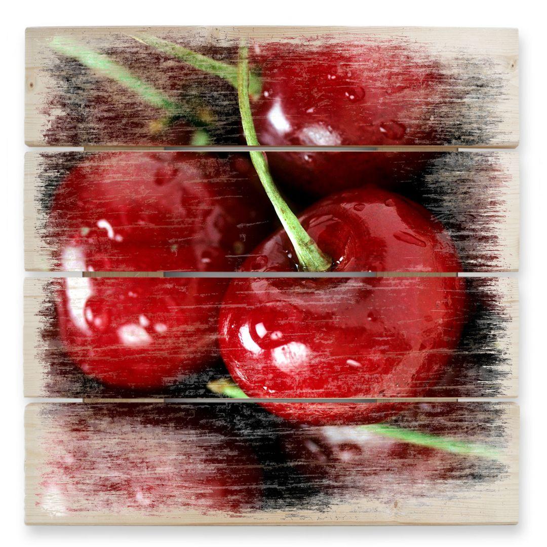 Holzbild Cherry