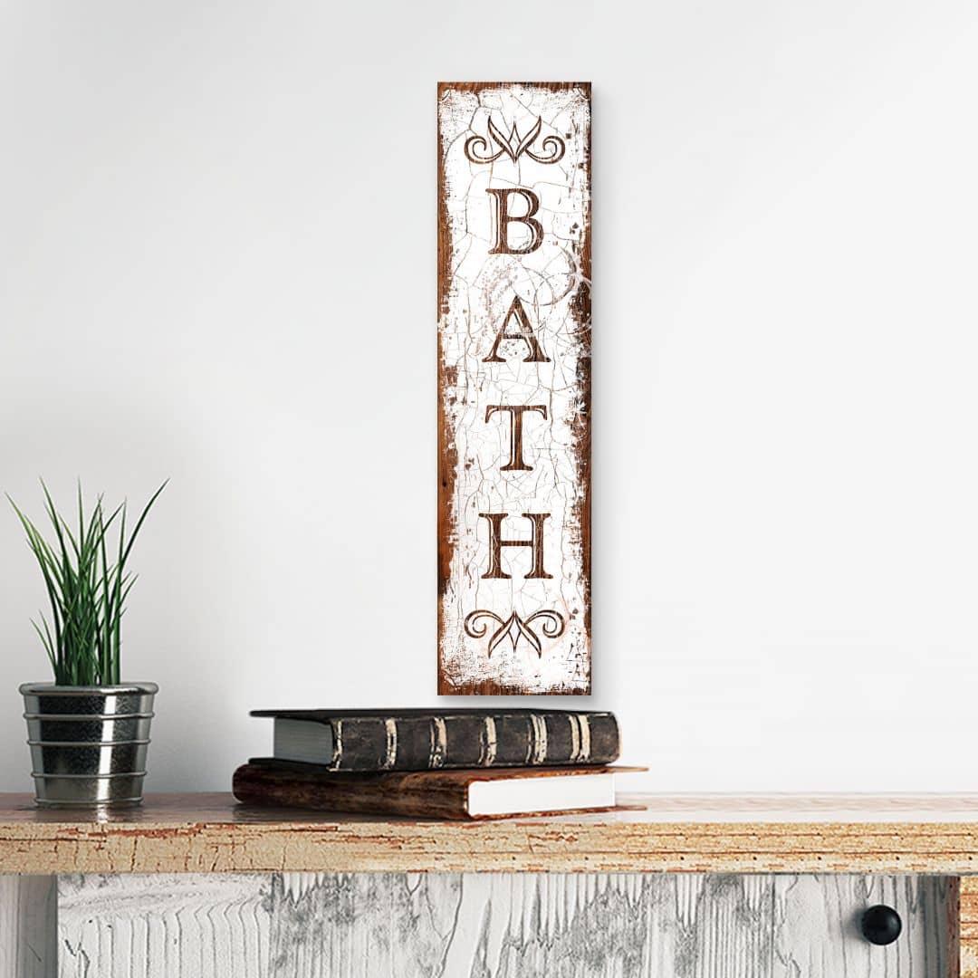 Holzschild Bath