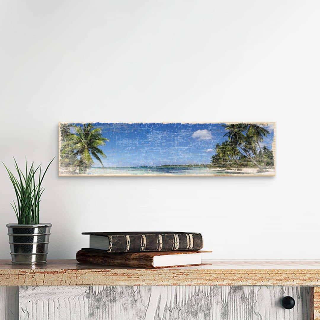 Holzschild Caribbean Flair