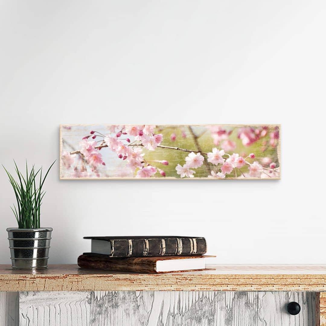 Holzschild Cherry Blossoms