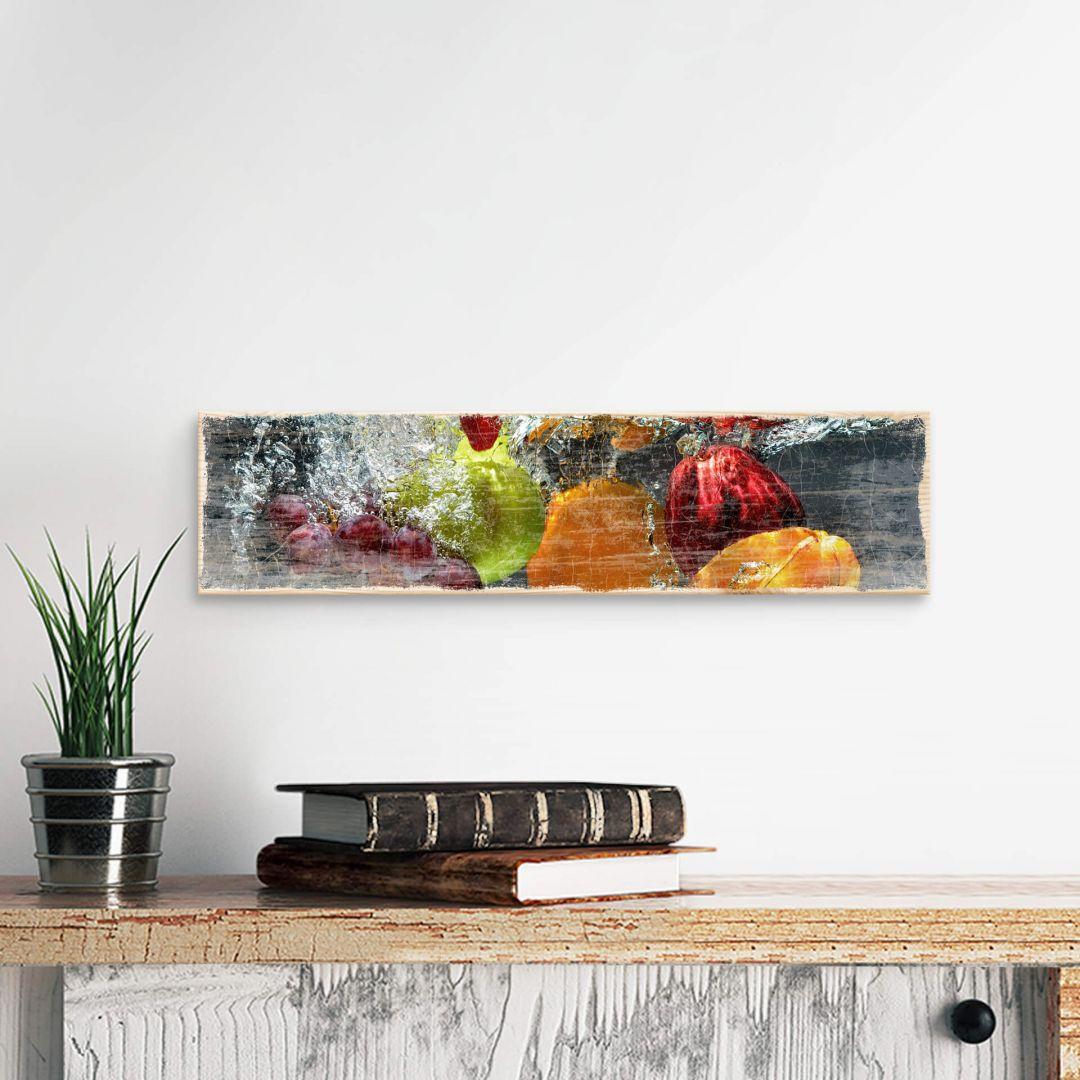 Houten Wanddecoratie Verfrissend Fruit