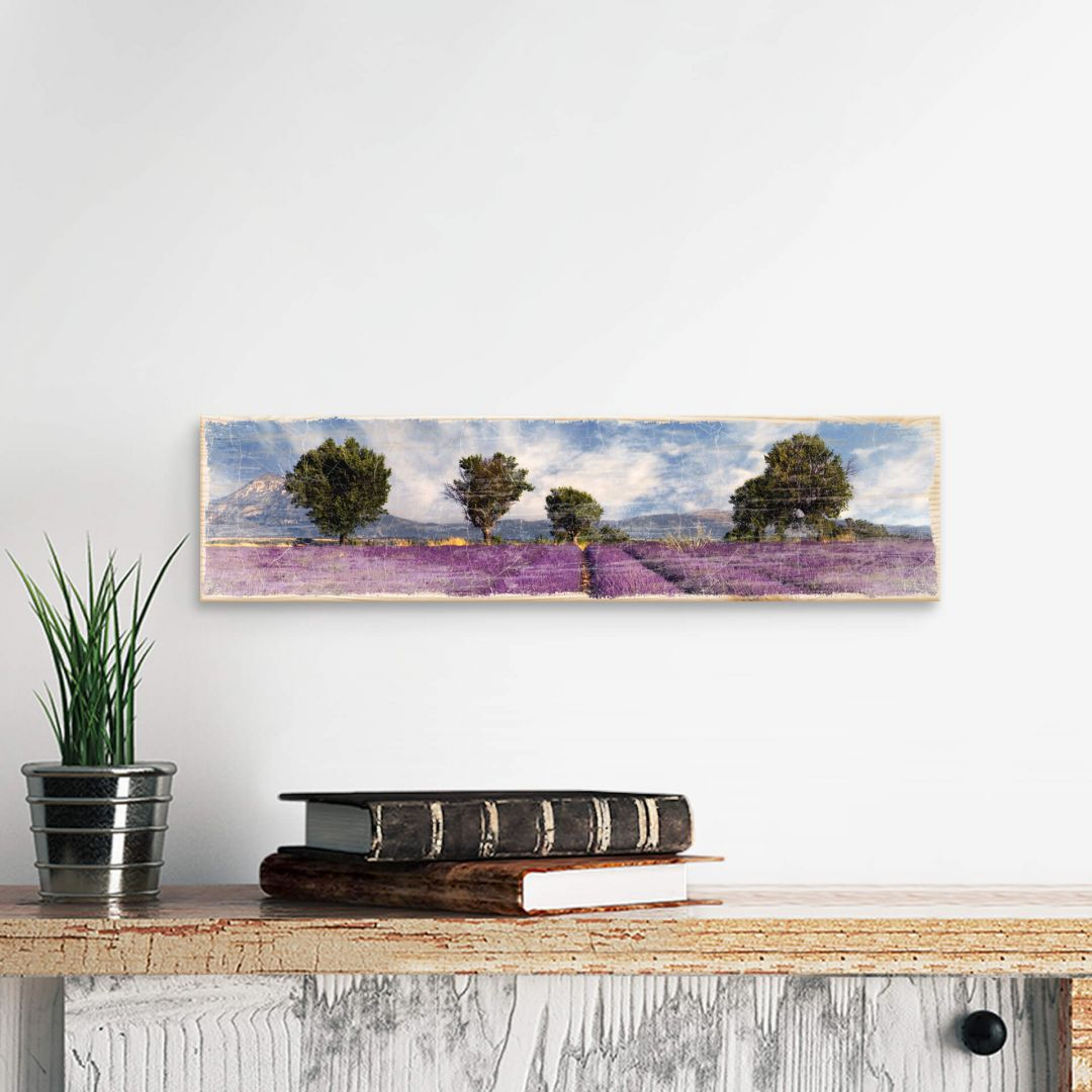 Wood Sign - Lavender Field