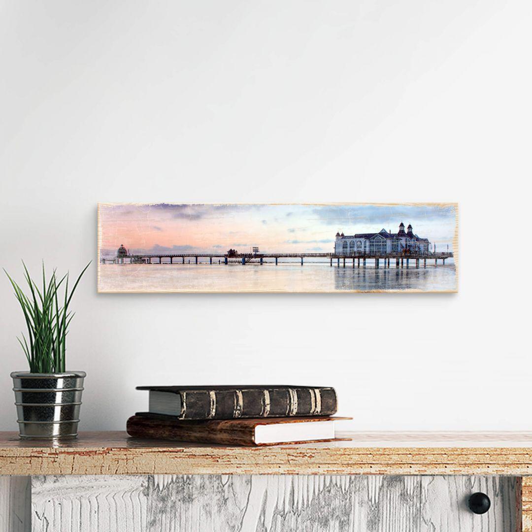 Holzschild Seebrücke Sellin
