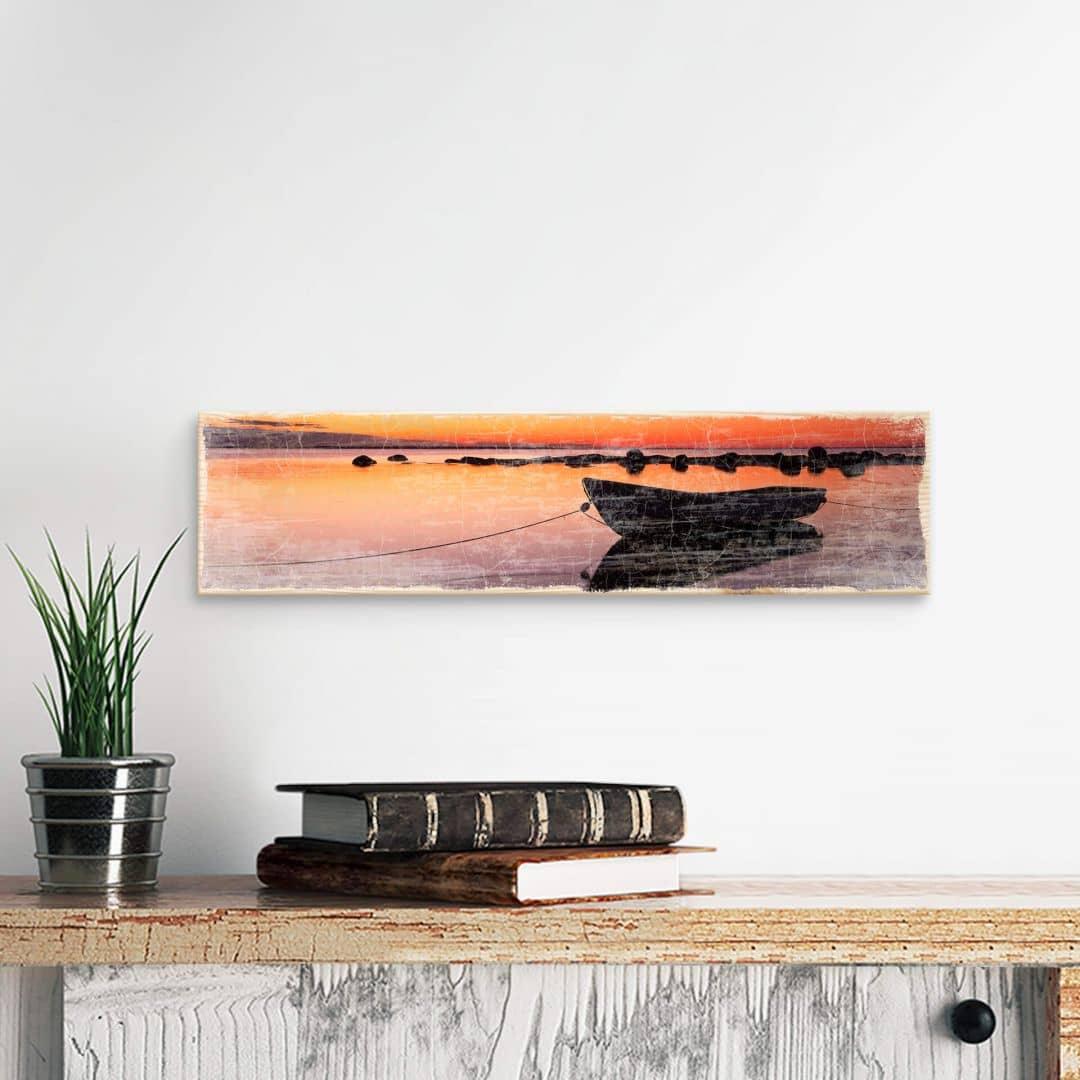 Houten Wanddecoratie Stille Zee