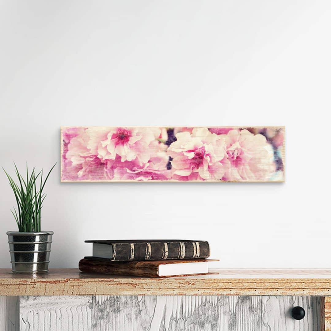 Holzschild Vintage Kirschblüten