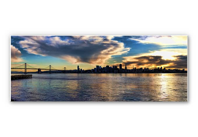 wanddecoratie san francisco skyline panorama