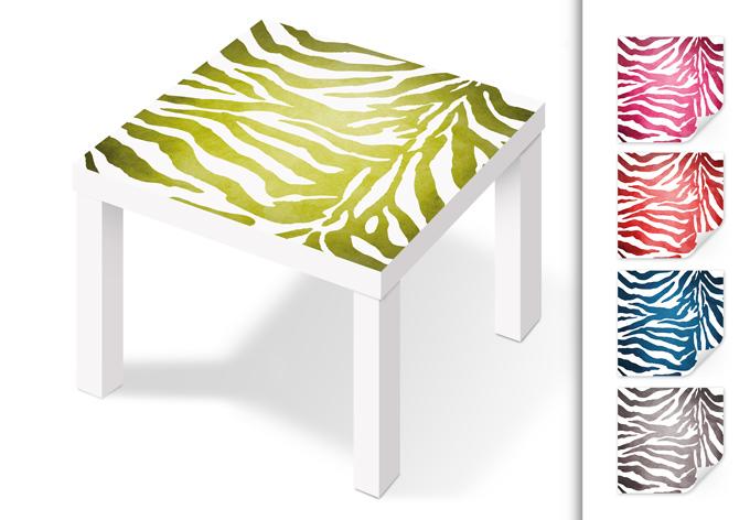 Kleeffolie Zebra voor IKEA Lack