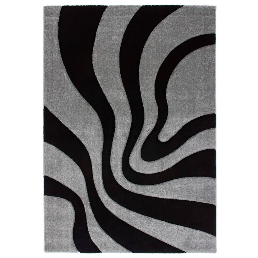 Musterteppich France - Provence Schwarz/ Silber 160cm x 230cm