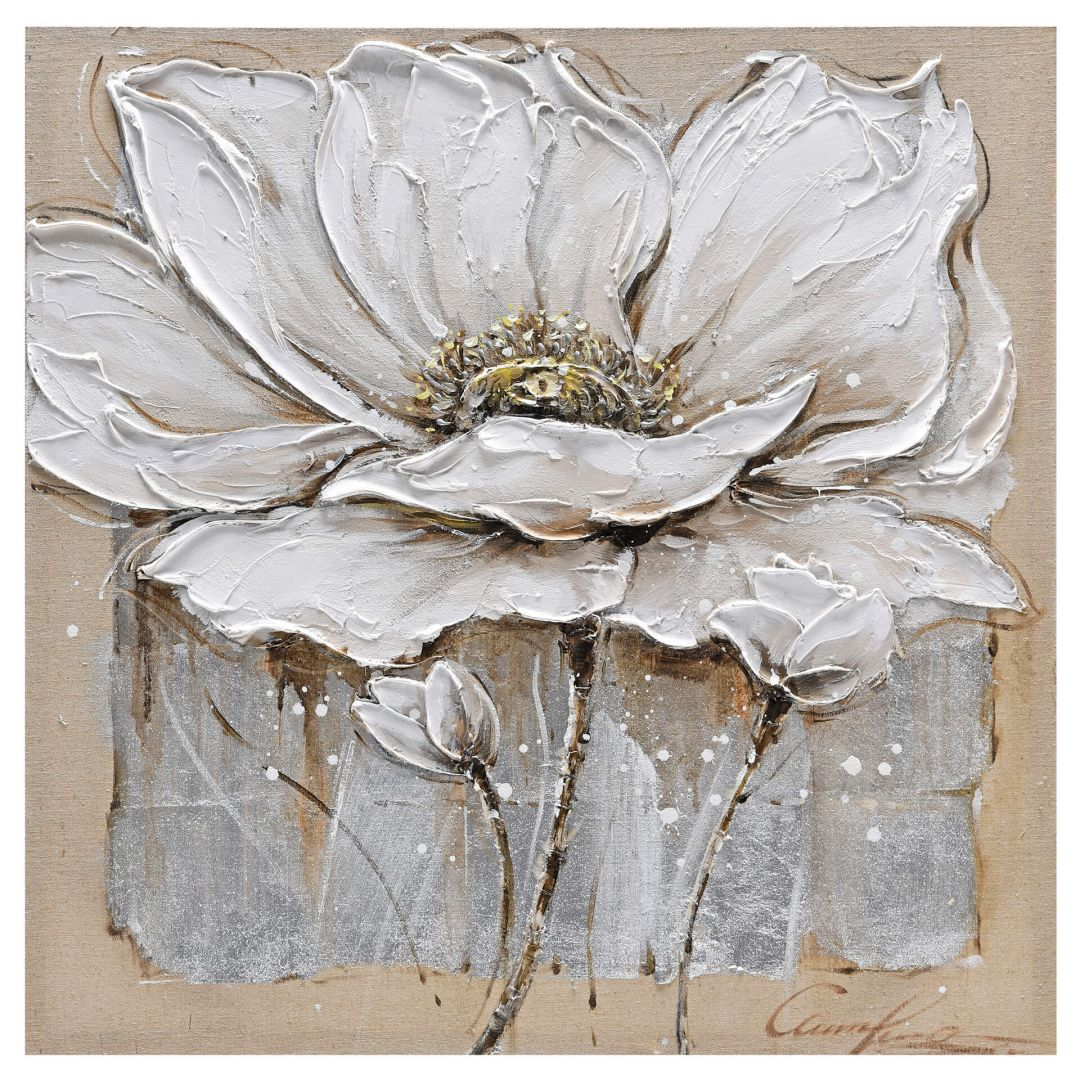Öl-Wandbild Blüte II 80cm x 80cm