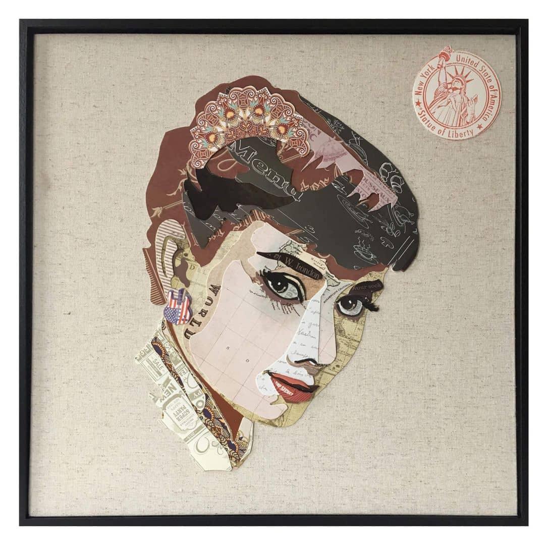 Papier Wandbild Actress 52cm x 52cm