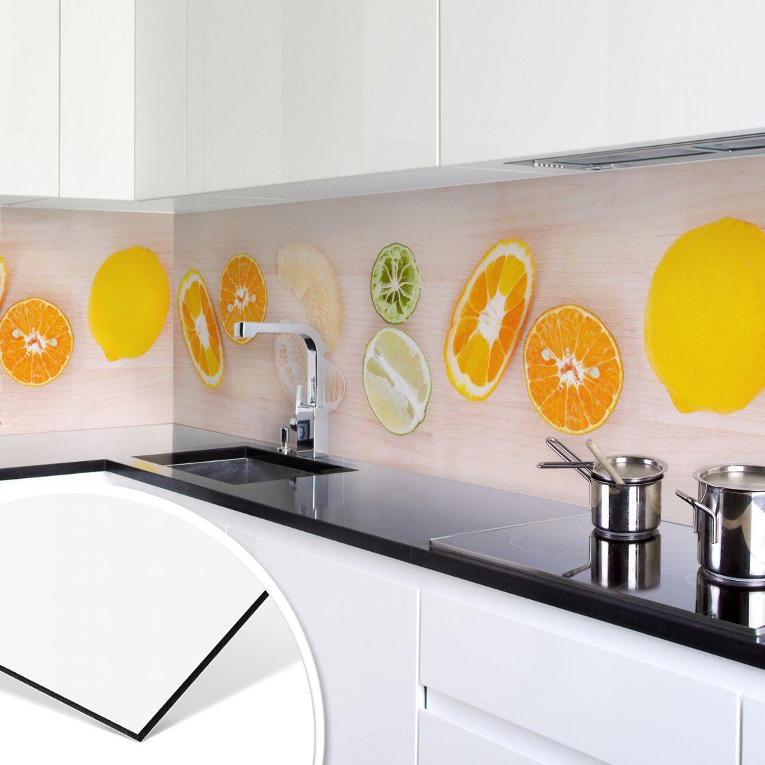 k chenr ckwand alu dibond limonaden rezept wall. Black Bedroom Furniture Sets. Home Design Ideas