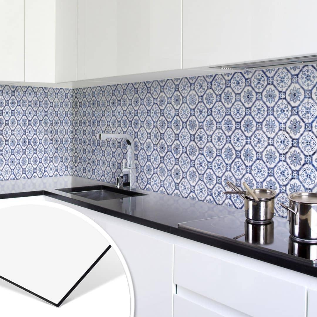 Rivestimento cucina alu dibond piastrelle olandesi 01 - Rivestimento adesivo per piastrelle cucina ...