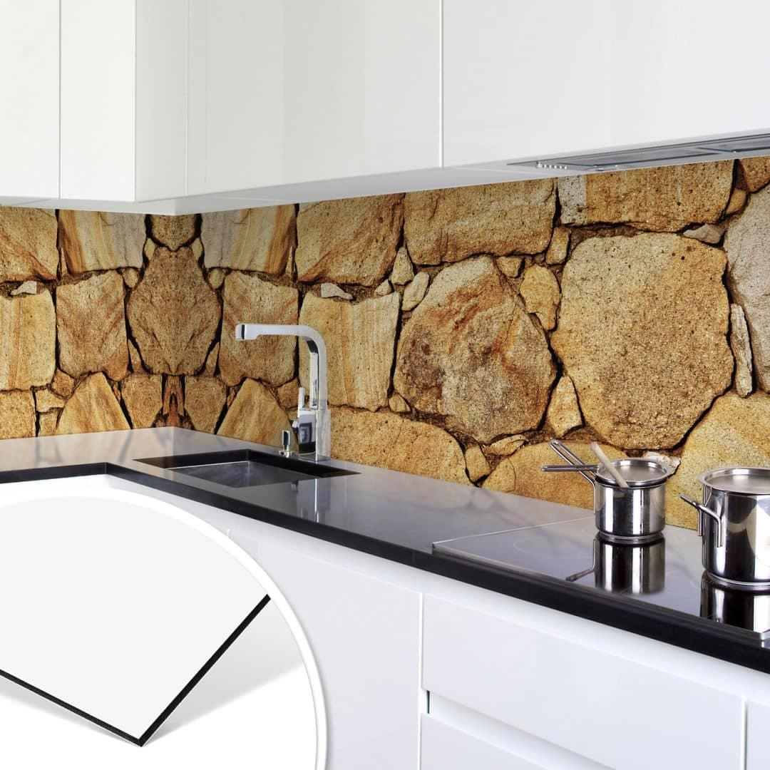 k chenr ckwand alu dibond mauer 03 wall. Black Bedroom Furniture Sets. Home Design Ideas