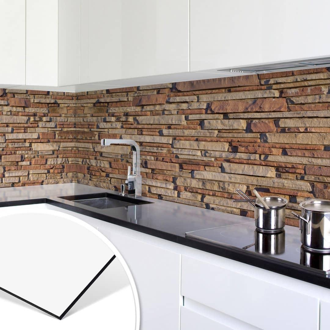 k chenr ckwand alu dibond mauer 05 wall. Black Bedroom Furniture Sets. Home Design Ideas