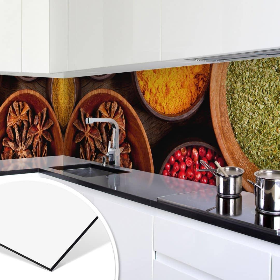 k chenr ckwand alu dibond gew rze wall. Black Bedroom Furniture Sets. Home Design Ideas