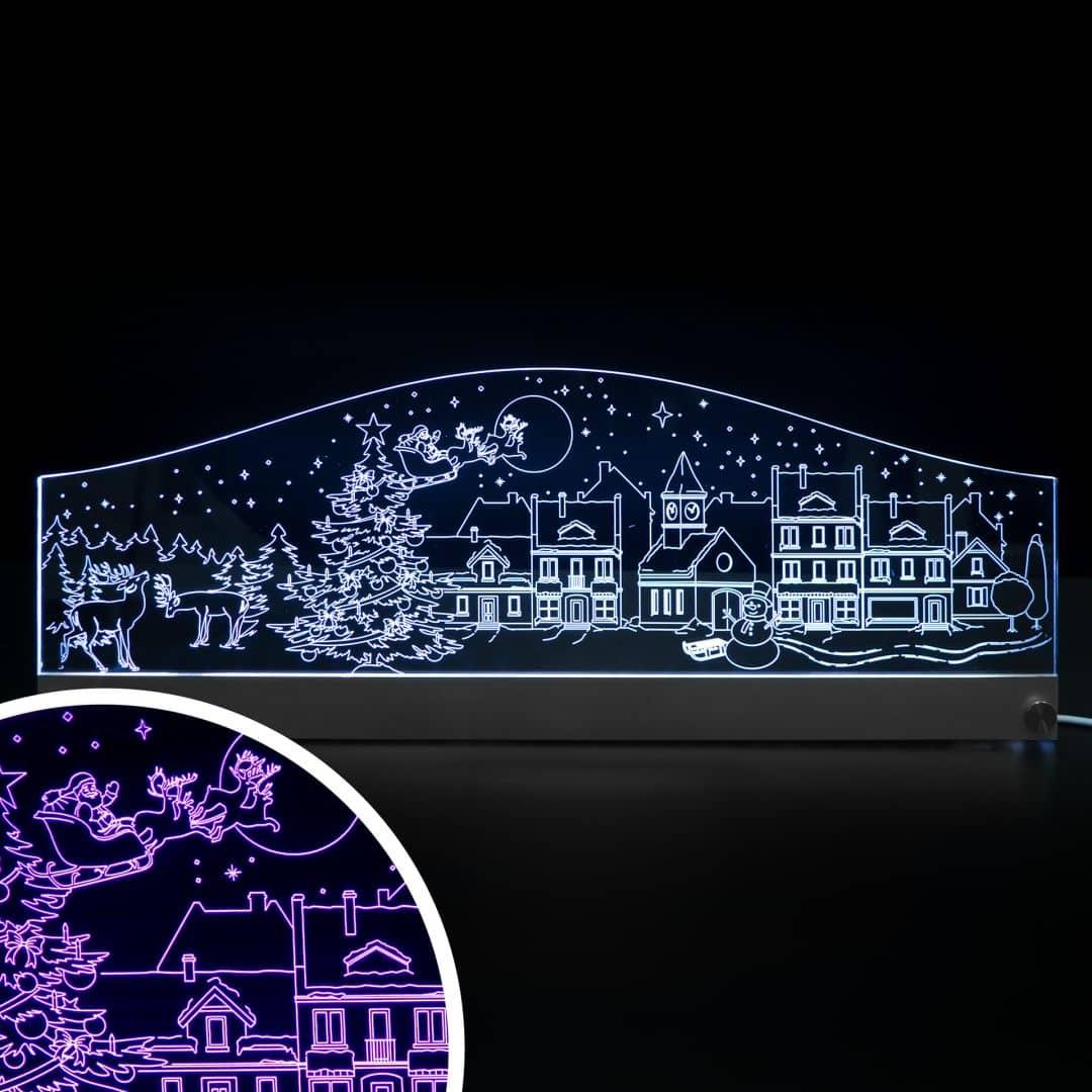 LED Skyline Weihnachen