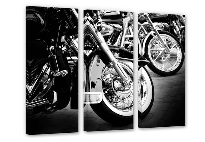 mehrteiliges leinwandbild motorcycle wheels von k l wall. Black Bedroom Furniture Sets. Home Design Ideas