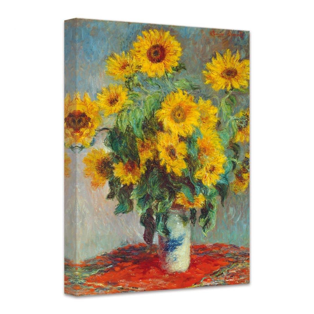 monet sunflowers canvas print wall. Black Bedroom Furniture Sets. Home Design Ideas