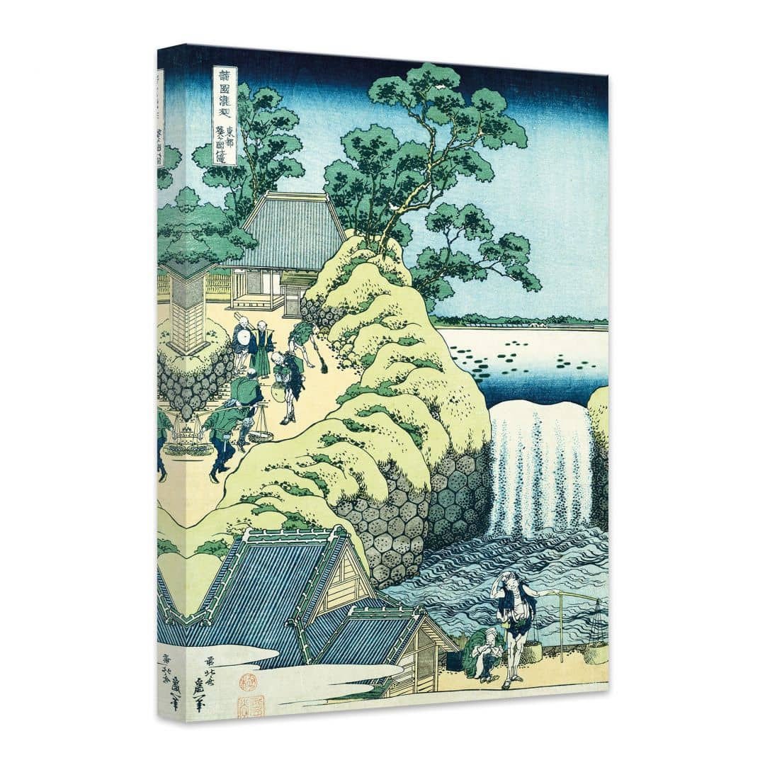 tableau sur toile hokusai vue de la cascade d 39 aoigaoka wall. Black Bedroom Furniture Sets. Home Design Ideas