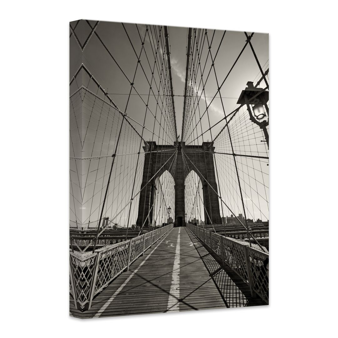 hochwertige leinwand brooklyn bridge perspektivevon k l wall art wall. Black Bedroom Furniture Sets. Home Design Ideas