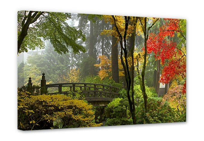 Stampa su tela giardino giapponese for Accessori giardino giapponese