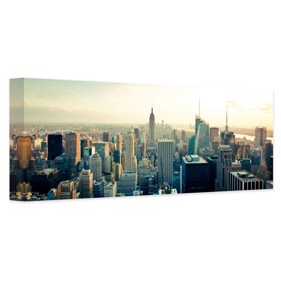 leinwandbild skyline von new york city panorama wall. Black Bedroom Furniture Sets. Home Design Ideas