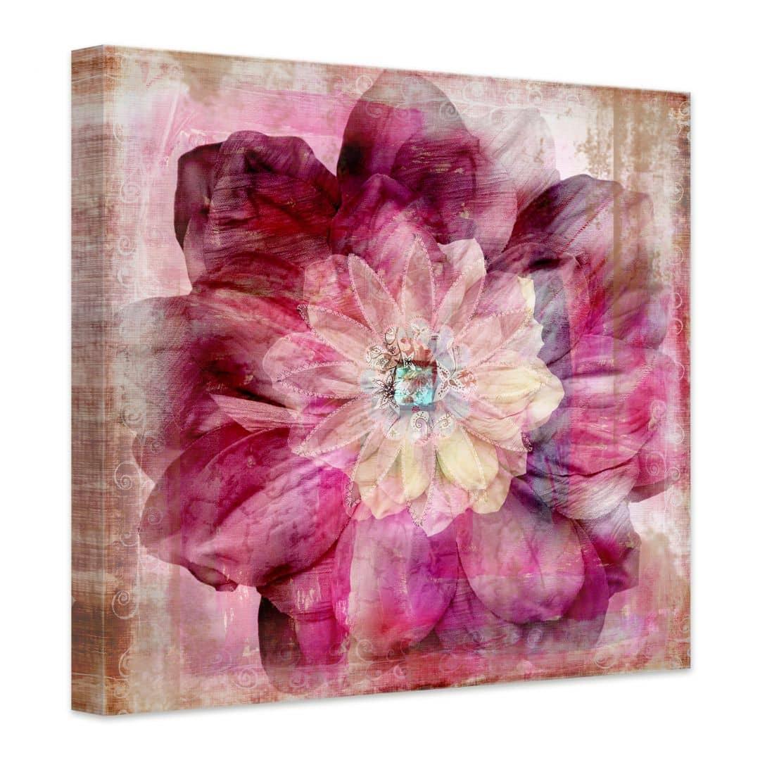 tableau sur toile pivoine rose wall. Black Bedroom Furniture Sets. Home Design Ideas