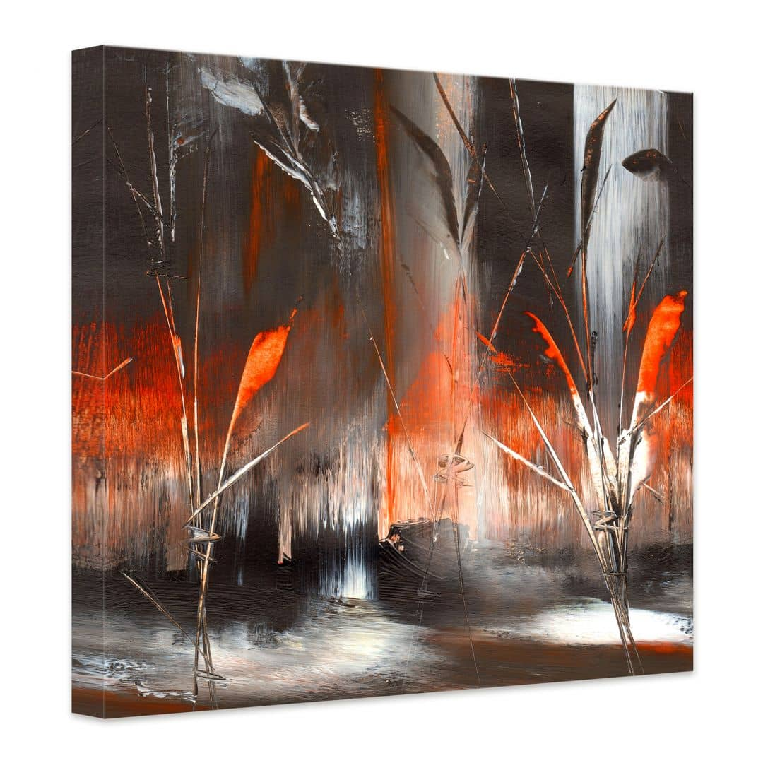 tableau sur toile niksic feu et cendre. Black Bedroom Furniture Sets. Home Design Ideas
